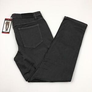 Tahari-Men-039-s-Casual-Pants-Classic-Fit-5-Pocket-Relaxed-Hip-Straight-Fit-Gray
