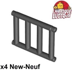 Lego-4x-Bar-grille-barreaux-1x4x3-noir-black-62113-NEUF