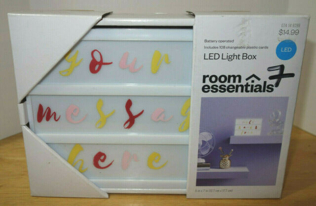 room essentials led light box diy message 108 changeable