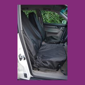 Front Car Van Black Waterproof LARGE Universal Airbag Compatible Seat Covers