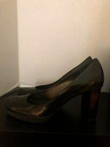 STUART-WEITZMAN-Women-039-s-Aerial-Brown-Walnut-Polished-Calf-Platform-Pumps-Heels-8