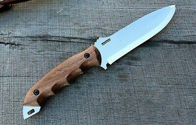 BPS Knives BK06S Large Bushcraft Fixed Blade Knives Carbon Steel Leather Sheath