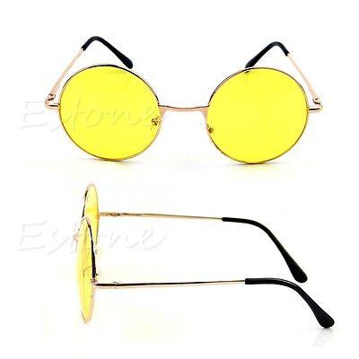New Retro Women Men Colorful Lens Sunglasses Eyewear Plastic Frame Round Glasses