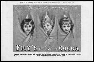1893-Antique-Print-ADVERTISING-Fry-039-s-Pure-Concentrated-Cocoa-89