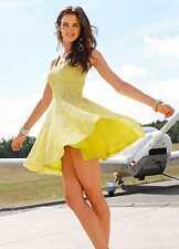 Laura Scott Lace Skater Dress Lime Ladies UK Size 20 Box1279 c