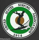 2014 UNITED STATES SURFING ASSOC.Surfboard Sticker Decal LONGBOARD Surfing