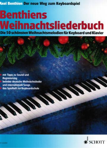 Klavier Noten Keyboard Benthiens Weihnachtsliederbuch f Keyboard u Klavier
