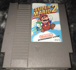 Super Mario Bros 2 Cartridge (Nintendo Entertainment System, NES) -- Authentic