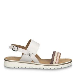 huge selection of 46a38 3b160 Details zu Tamaris 1-1-28223-22 197 Schuhe Damen Sandalen Sandaletten  Almina weiß comb.