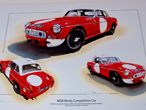 Mg Mgb Le Mans 24 Hours 1965 New Uk Print Paddy Hopkirk Andrew Hedges Limited Ebay