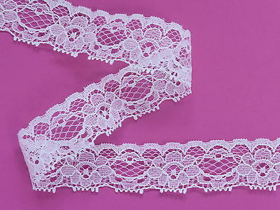 "*The Place For Lace*  Dainty Vintage Pale Ivory Lace Trim 1""/2.5cm Sewing Crafts"