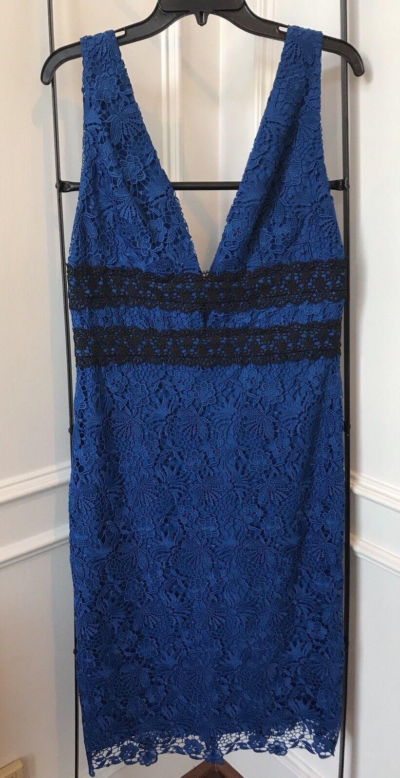 84% Off NWT DVF Diane Von Furstenberg Viera Neptune bluee bluee bluee Lace Dress Size 10  498 44dcc0