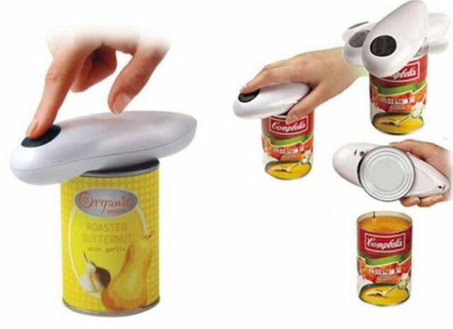 ONE TOUCH AUTOMATIC CAN OPENER WITH FREE GIFT GRIPMATE JAR OPENER AS SEEN ON TV#