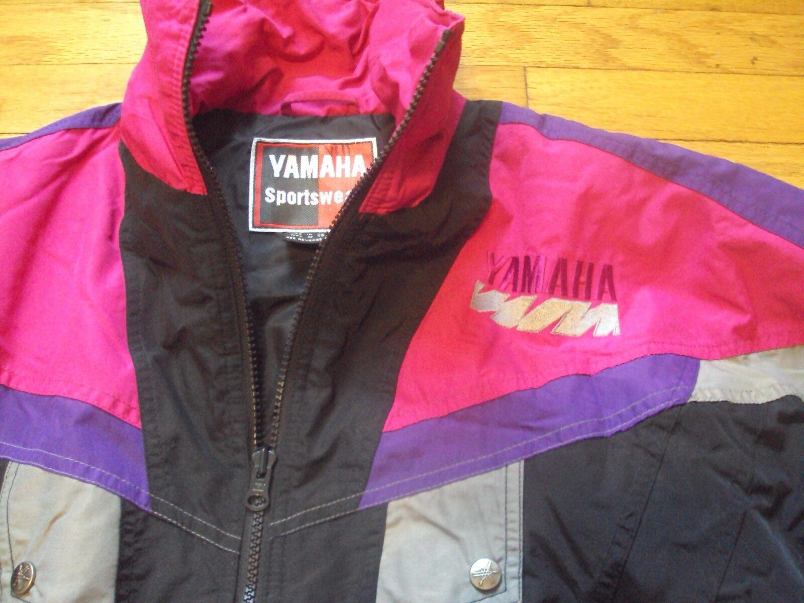YAMAHA SPORTS WEAR VINTAGE 1990'S PURPLE PINK RETRO SNOWMOBILE SKI SNOWBOARD