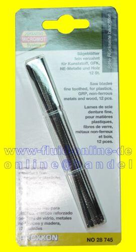 PROXXON 28745 Laubsägeblatt fein verzahnt Holz 12 Blätter//Packung DSH DS460