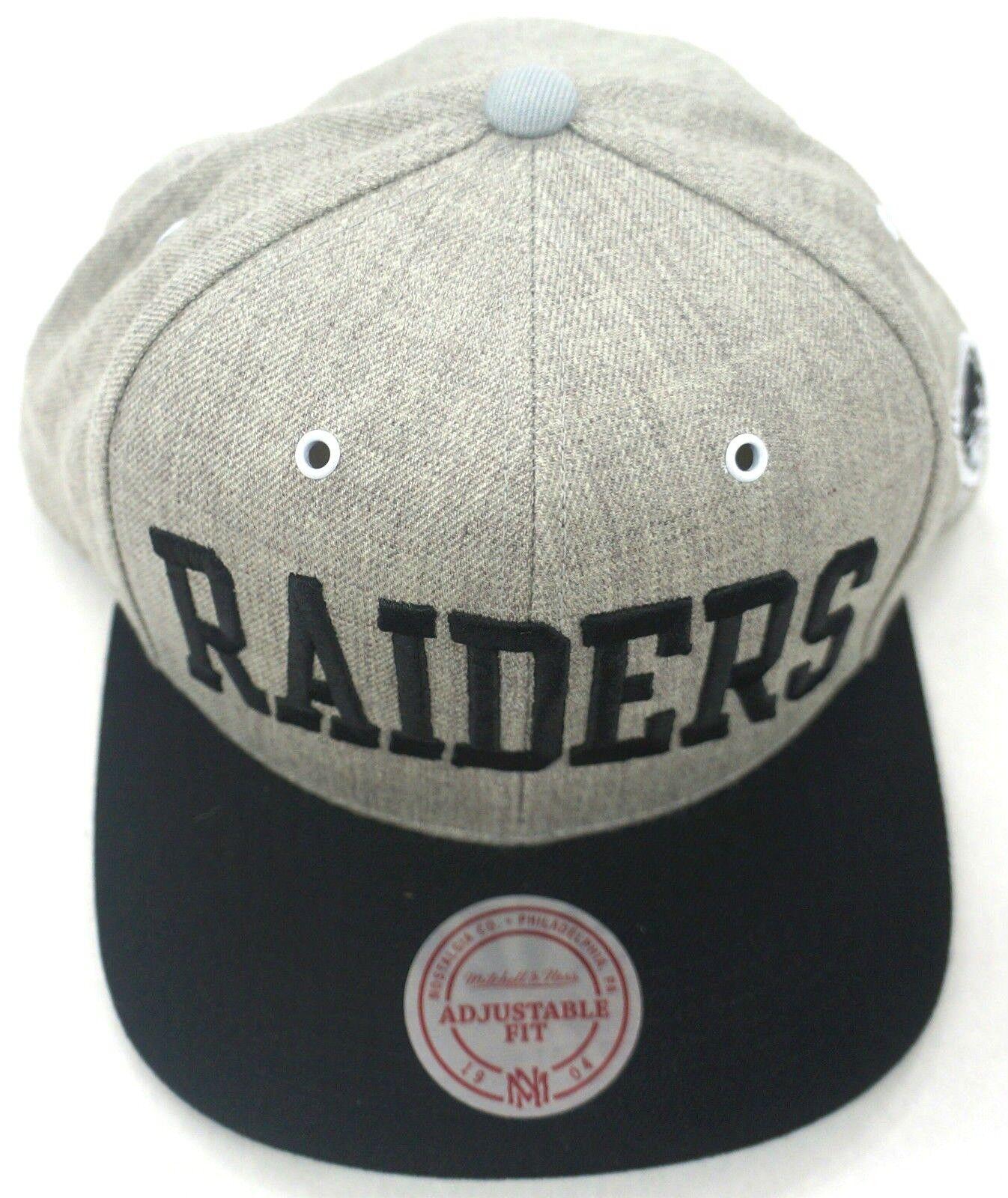 NFL Oakland Raiders Raiders Raiders Mitchell & Ness Vintage Wolle Snapback Kappe M&N Neu ae4f2d