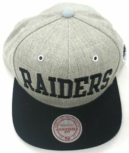 NFL Oakland Raiders Mitchell and Ness Vintage Wool Snapback Cap Hat ... d5606cf74