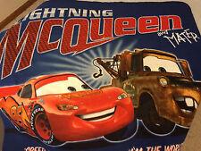 Lightning McQueen Tow Mater Cars Disney Fleece Blanket Throw NEW