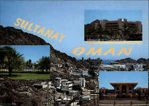 OMAN-Postkarte-Postcard-Sultanat-Arabische-Halbinsel-color-Mehrbild-AK-ungelauf