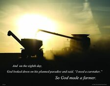 Case IH Farmall Tractor Motivational Poster Art Print Farming Toys Parts RELG28