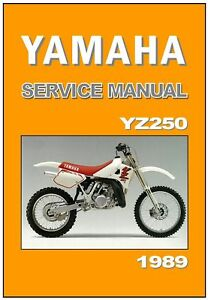 yamaha workshop manual yz250 yz250w vmx 1989 maintenance service and rh ebay com 1990 Yamaha YZ250 1993 Yamaha YZ250