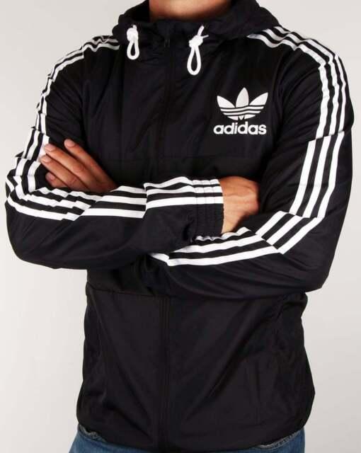 feb3c7fd Adidas Originals California Windbreaker Black White Firebird Hoodie Top  Jacket