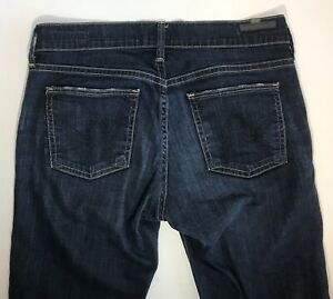 Citizens-Of-Humanity-COH-Ava-Low-Rise-Straight-Leg-Jeans-Womens-Sz-25-Dark-Blue