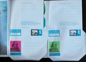 Great-Britain-2-x-Shakespeare-Festival-air-letters-unused