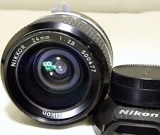 Nikon NIKKOR 24mm f2.8 Non AI Lens manual focus (K type)       Free Shipping USA
