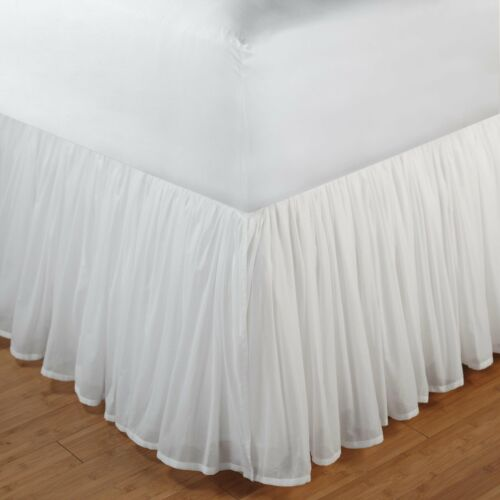 """Greenland Home Cotton Voile Bed Skirt Twin Full Queen Or King 18/"""""""