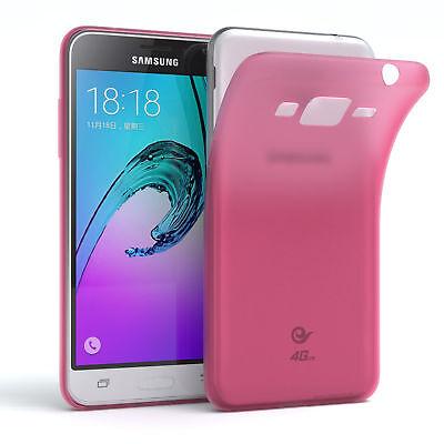 Schutz Hülle für Samsung Galaxy J3 (2016) Cover Handy Case Matt Pink