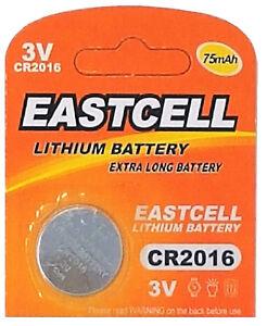 50-x-CR2016-3V-Lithium-Knopfzelle-75-mAh-10-Blistercard-a-5-Batterien-EASTCELL
