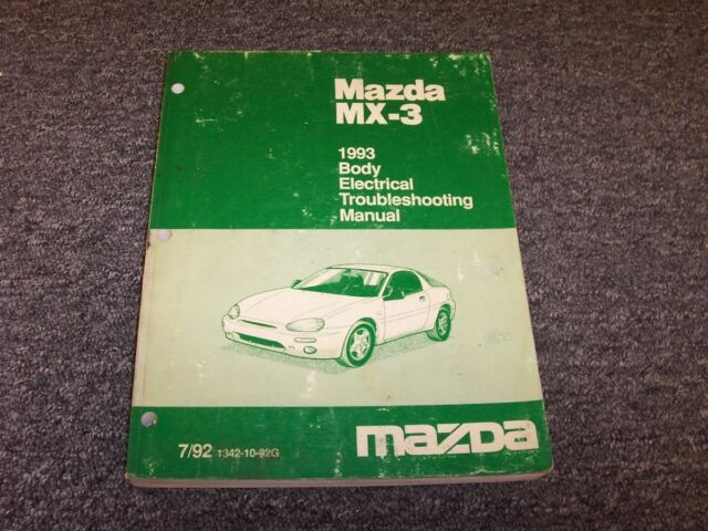 1993 Mazda Mx3 Hatchback Body Electrical Wiring Diagram