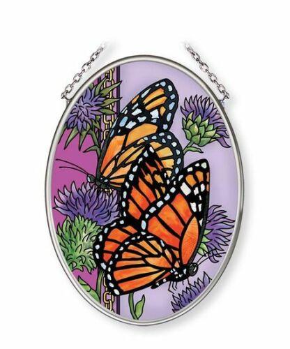 """Amia Majestic Monarch Butterfly Glass Suncatcher 4-1//2/"""" Multicolor 42685"""