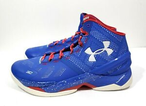 the latest 4863d 438be Under Armour Curry 2 Providence Road Mens Basketball Shoes Blue Red ...