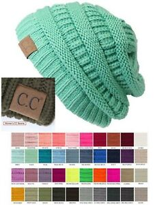 5fec42bce98 Women Authentic CC Beanie Thick Slouchy Knit Cap Hat C.C Beanie ...