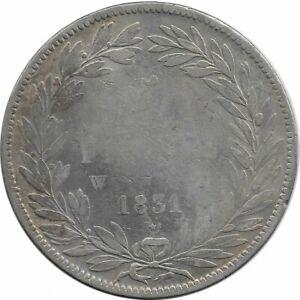 FRANCE-5-FRANCS-LOUIS-PHILIPPE-I-1831-W-Lille-TRANCHE-EN-CREUX-TB