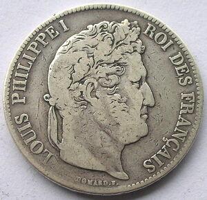 France-1834-Louis-Phillppe-5-Francs-Silver-Coin