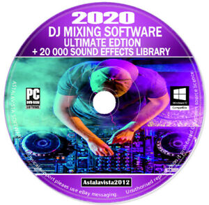 30gb of Digital Sound Effects 8 DVDs DJ Mixing Music Editing Recording Software