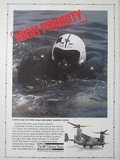 10/1991 PUB BELL BOEING V-22 OSPREY TILTROTOR US NAVY PILOT HELMET RESCUE AD
