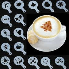 16 Stück Latte Art Schablonen Vorlagen Cappuccino Kaffee Schaum Kuchen Decor WOW