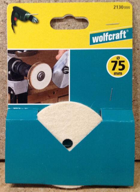 Wolfcraft Filzpolierscheibe Schleifteller 75mm Schleifen/Polieren 2130000