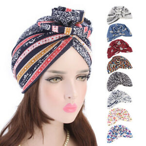 Women-039-s-Head-Scarf-Cancer-Protect-Cap-Muslim-Turban-Hat-Head-Stretch-Wrap-Trendy