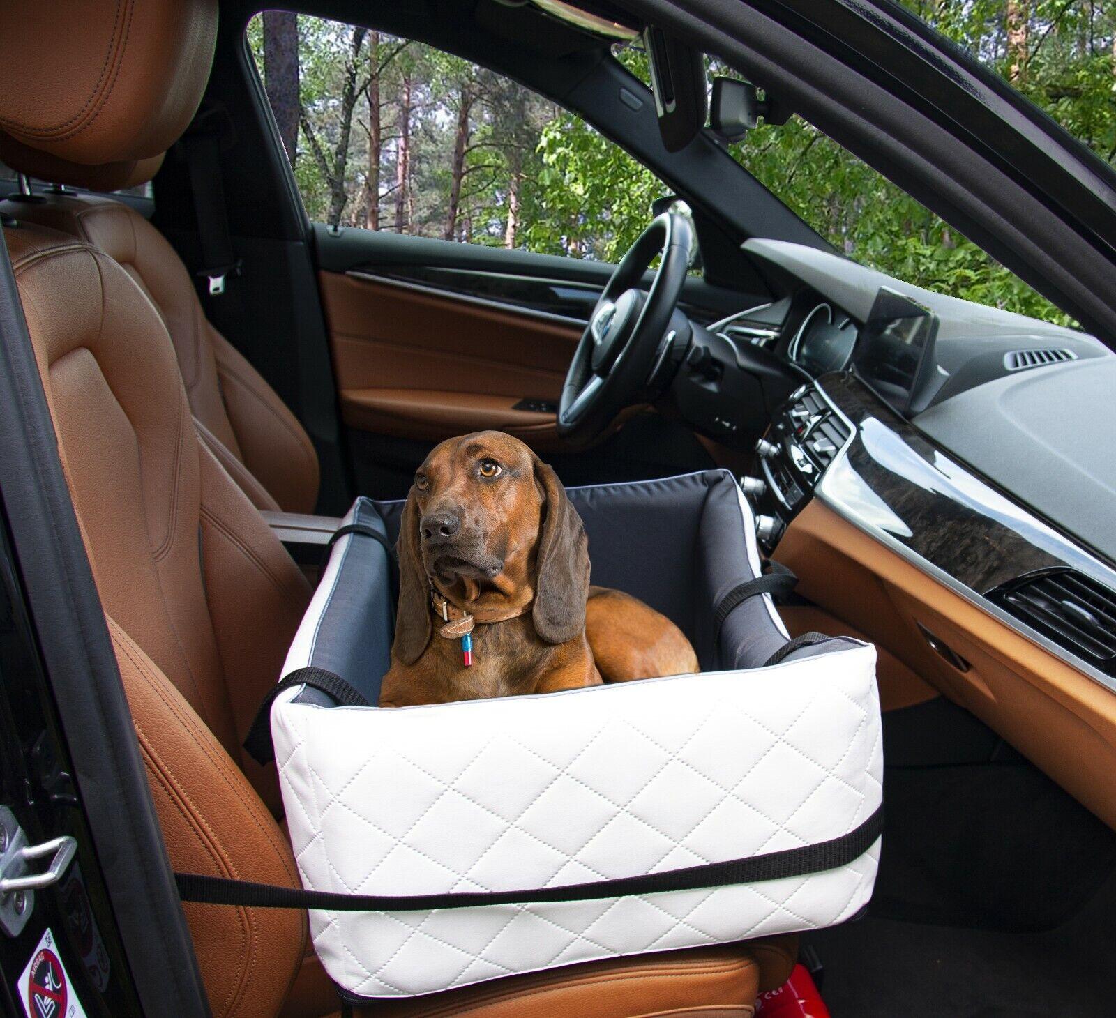 Hundeautositz Hundesitz Hundebett Autokörbchen Autositz Leder gesteppt