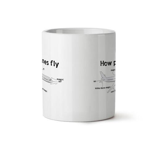 Comment les avions voler NOUVEAU Thé Blanc Tasse de Café 11 OZ environ 311.84 g wellcoda