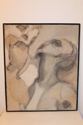 """Actief Tableau """" Portrait D' Homme """" De Françoise Mauroy H 65 Cm X 54 Cm Brede VariëTeiten"""