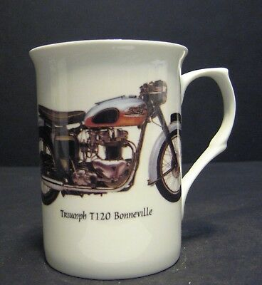1 Triumph Bonneville T120 Motorbike Fine Bone China Mug Cup Beaker