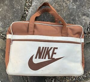 Endurecer Parche Fértil  Vintage 70s Nike Orange Tag Brown & Tan Duffle Gym Bag BRS Worn | eBay