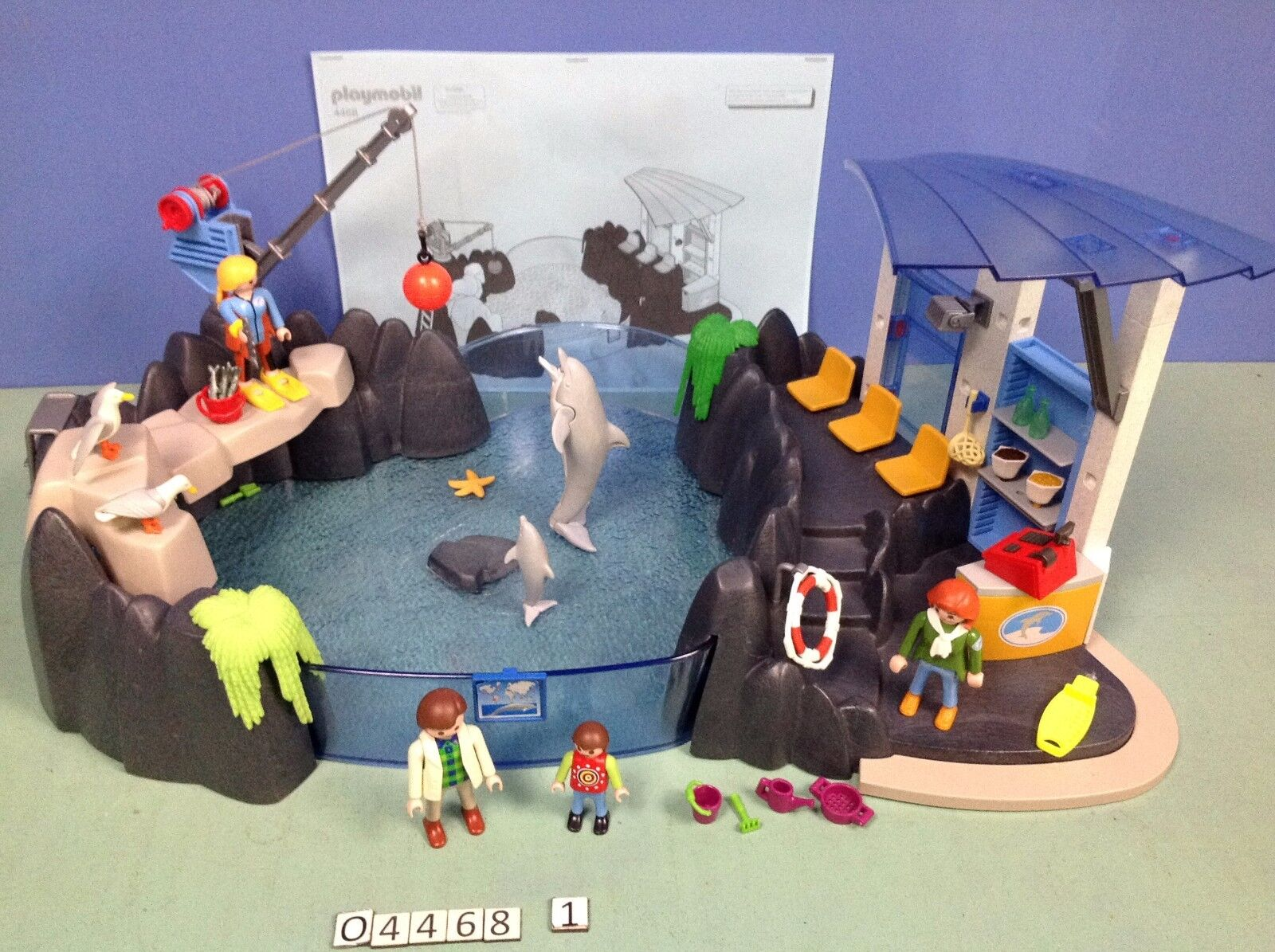 (O4468.1) playmobil Bassin des dauphins ref 4468 complet zoo 3240 4462