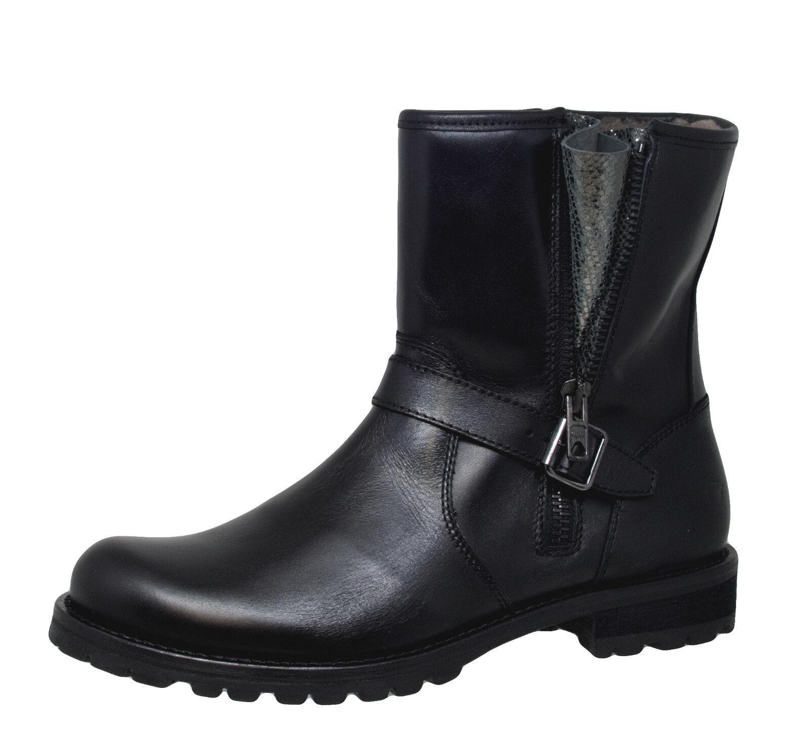 Gallucci 5374 Mädchen Damen Stiefeletten Stiefel Leder Lammfel schwarz 36 - 41 Neu    | Produktqualität